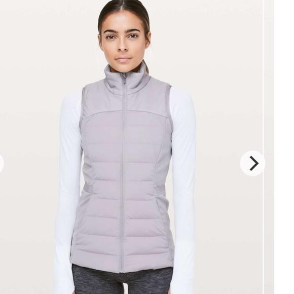 Lululemon Down For It All Vest Size 8 -EUC